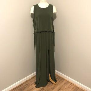 Hunter Green Maxi Dress